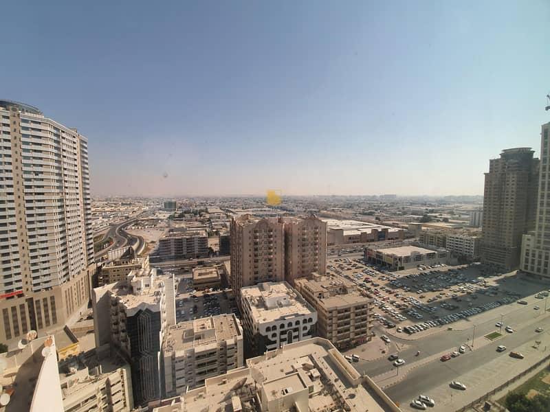 Spacious 2 BHK   AL MAJAZ Al MAHA TOWER  A/C FREE