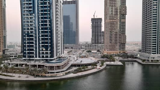 2 Bedroom Flat for Rent in Jumeirah Lake Towers (JLT), Dubai - 2 BHK / Furnished / Near To Metro Full Lake View