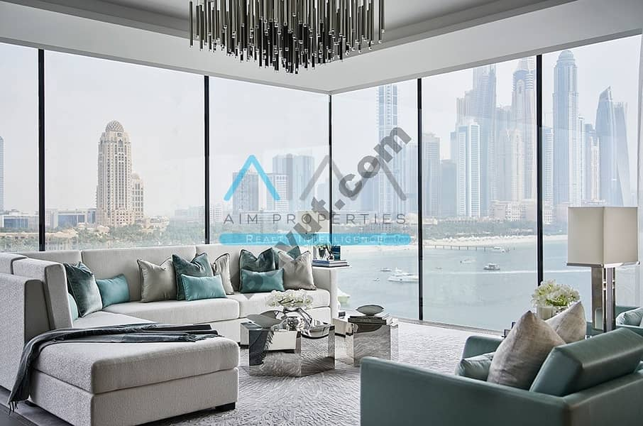 One of a Kind | Large 4BR Penthouse | 360 Full sea view| Private Pool