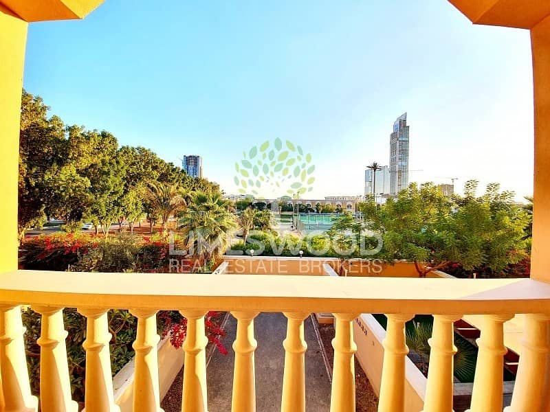 Lush Green Views | Large 1 BR Study Terrace Garden