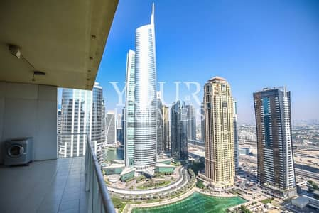 شقة 2 غرفة نوم للايجار في أبراج بحيرات الجميرا، دبي - IM | Spacious and Bright | High Floor | Amazing View
