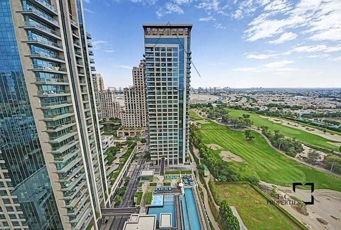 1 Biggest 1BR | With Golf I Pool & Canal View