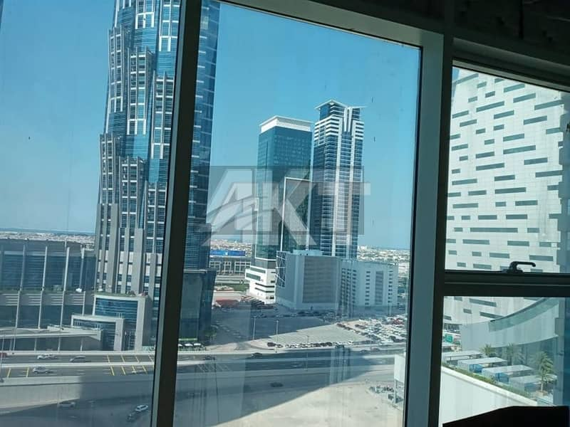 45 K / 4 cheques / With Kitchen & Bathroom / Semi Fitted / Al Manara Tower / Business Bay