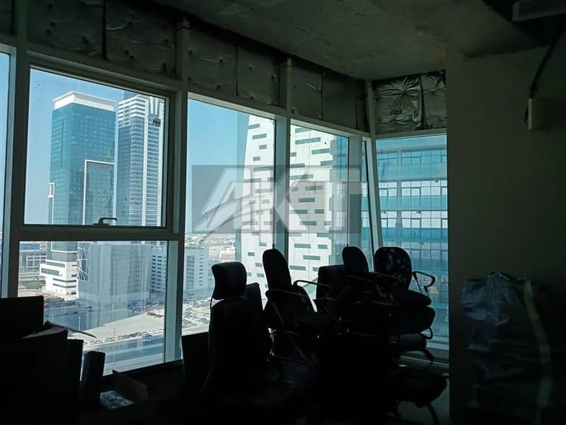 2 45 K / 4 cheques / With Kitchen & Bathroom / Semi Fitted / Al Manara Tower / Business Bay