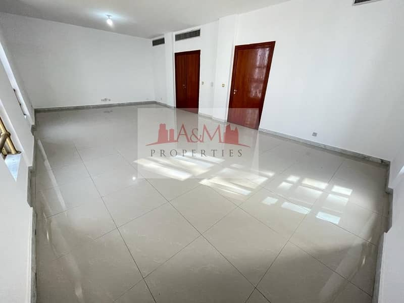 SPACIOUS.: Three Bedroom Apartment with Maids room & Balcony for AED 85