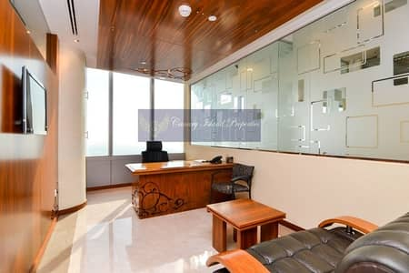 Office for Sale in Jumeirah Lake Towers (JLT), Dubai - Panoramic View/ Higher Floor/ Furnished!