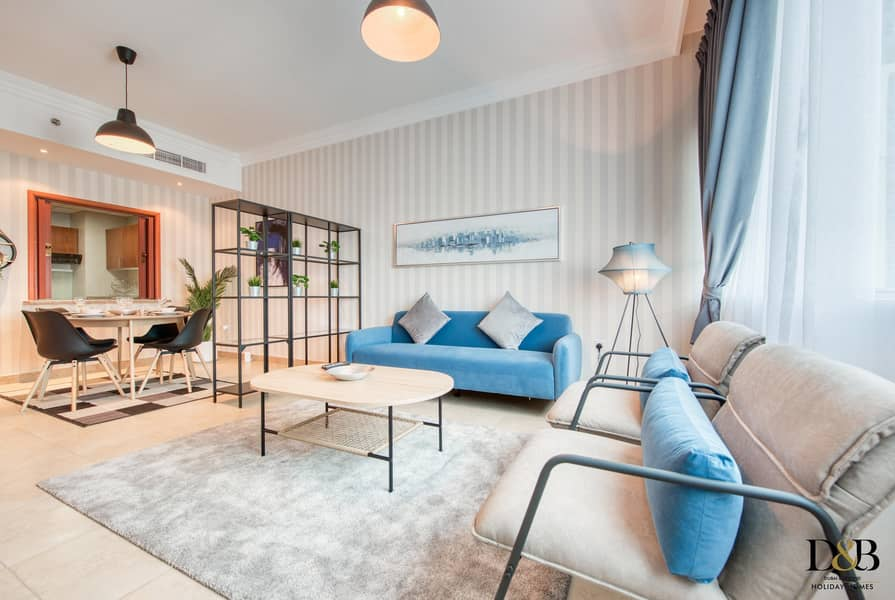 Newly furnished One Bedroom flat in Marina