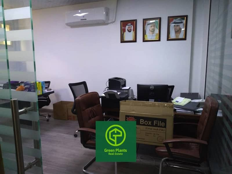 Al Qusais prime location 2,400 sq. Ft warehouse with built in ready air condition offices