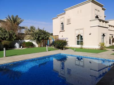 5 Bedroom Villa for Rent in Dubai Silicon Oasis, Dubai - Huge plot Independent 5 bedroom Villa Corner Unit Single Row with Swimming Pool in Cedre villas for rent