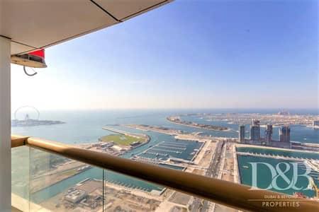 شقة 4 غرف نوم للايجار في دبي مارينا، دبي - Palm & Dubai Eye View | High Floor | Vacant