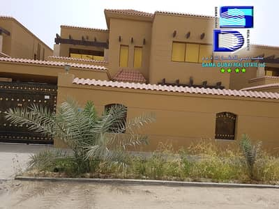 Villa for rent in Ajman, Al Rawda, two floors, 5 rooms, a majlis, a hall, monsters and air conditioners, 85 thousand dirhams