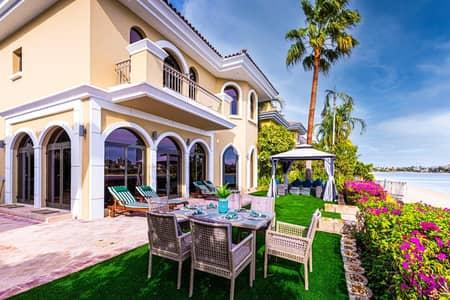 5 Bedroom Villa for Rent in Palm Jumeirah, Dubai - 5BR/L Malibu/ Beach Elegance Vibe