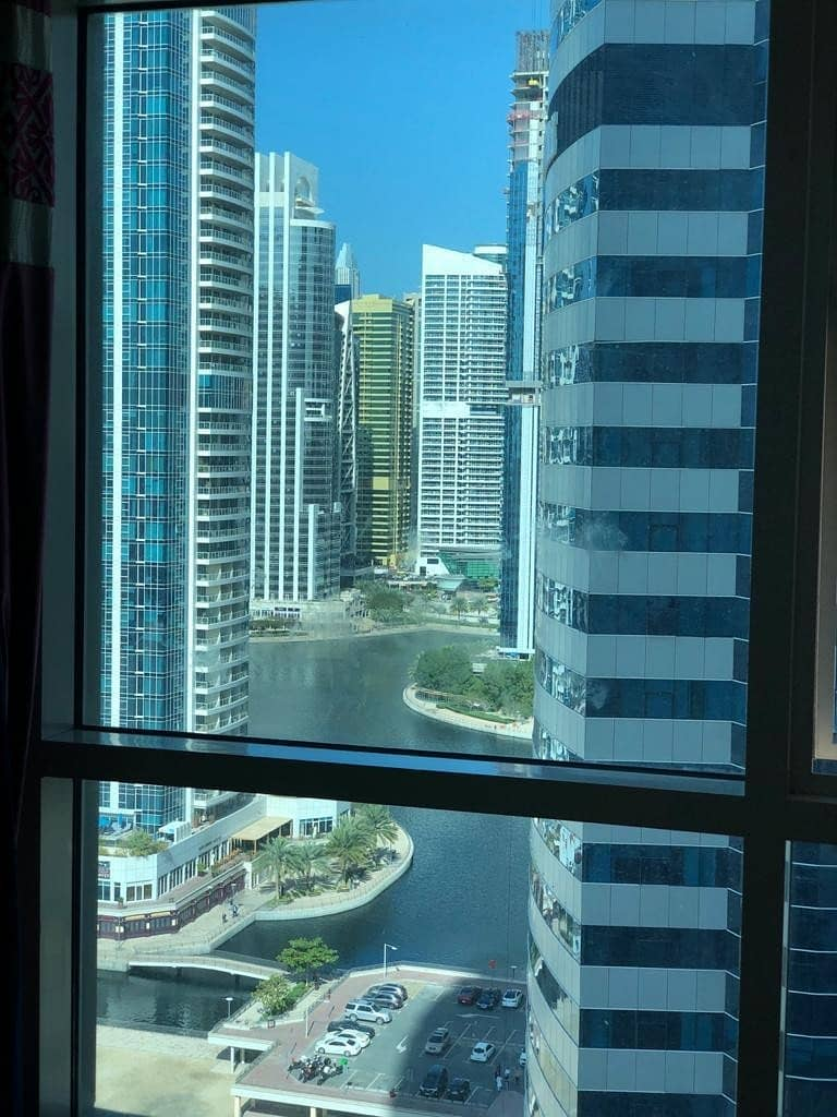 6 HURRY UP ONE BHK IN JLT LAKE POINT TOWER JUST IN 35000/4