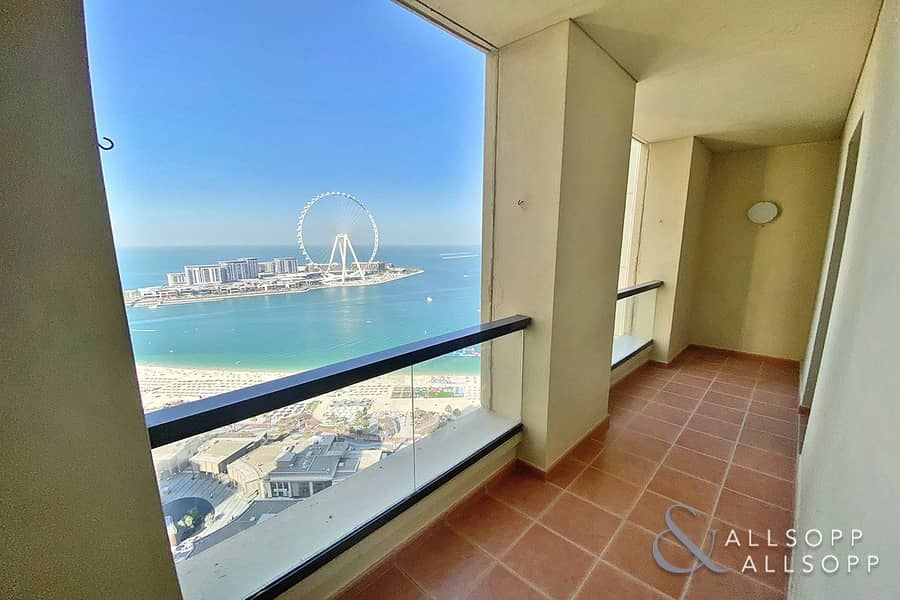 2 Full Views | Vacant | 3 Balconies | 3 Bed