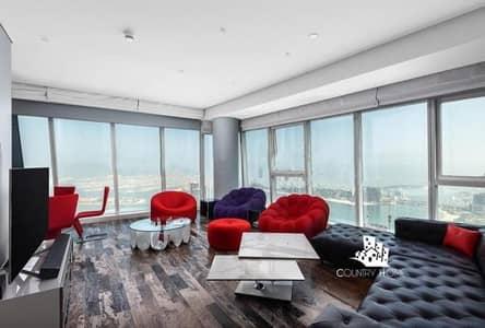 4 Bedroom Apartment for Rent in Dubai Marina, Dubai - Panoramic Sea View | Fendi Design | 4 Bedrooms