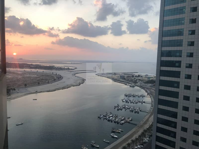 2 Best Sharjah towers wonderful views on the sea with GYM