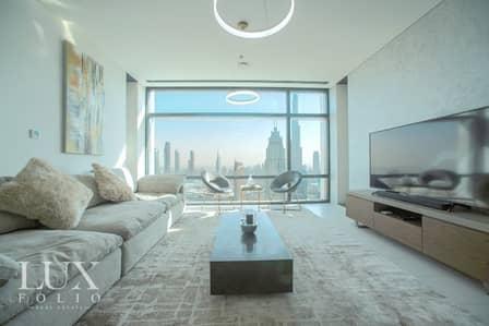 فلیٹ 1 غرفة نوم للايجار في مركز دبي المالي العالمي، دبي - Fully Furnished   Burj View   Available February