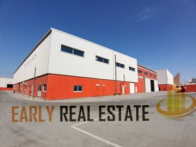 Warehouse for Rent in Mussafah, Abu Dhabi - 5000 SQ MTRS WAREHOUSE I YARD I OFFICE I POWER 1550KW I 15 MTR HIEGHT