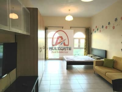 Studio for Rent in Discovery Gardens, Dubai - 18 Tiles fully furnished studio in street 4.