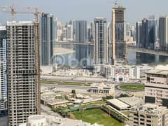 2 bedroom  for rent al mamzer with A/C free & open view only 40,000 AED