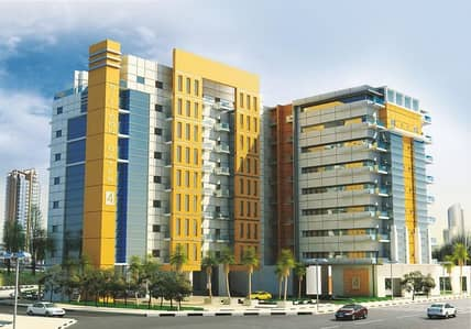 studio with balcony for rent in Dubai silicon oasis (silicon gate 4 ) just in