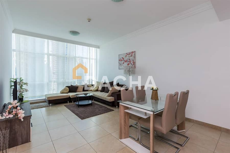Fully furnished 1 BR / Marina view
