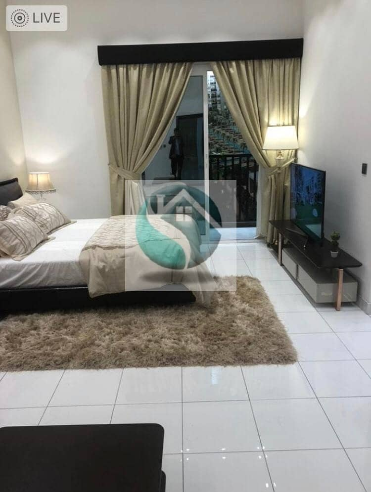 2 FANTASTIC || Miracle Garden VIEW || Furnished Studio 1% monthly payment plan 400K ARJAN