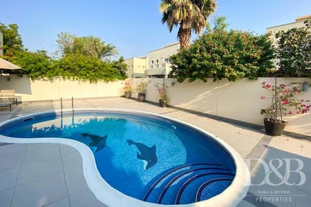 4 Bedroom Villa for Rent in The Meadows, Dubai - Private Pool And Garden | Upgraded 4 BR Villa