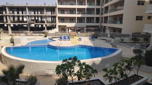 استوديو  للايجار في قرية جميرا الدائرية، دبي - CB Pool view apartment in Kinight Bridge Court