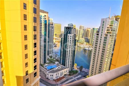 2 Bedroom Apartment for Rent in Jumeirah Beach Residence (JBR), Dubai - Marina view / /  Mid floor / /  Great layout