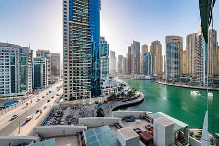 فلیٹ 2 غرفة نوم للايجار في دبي مارينا، دبي - Full Marina View | Large Balcony | 2 BR + Maid's Room