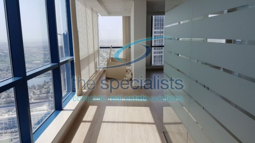 Arian view from high floor fitted in Jumeirah Bay