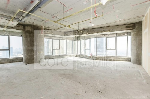 Shell and core office in Platinum Tower