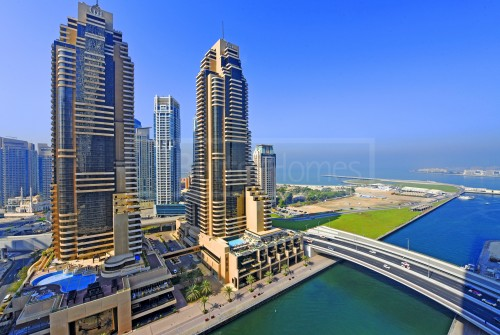 Lovely Marina & sea view in Cayan tower