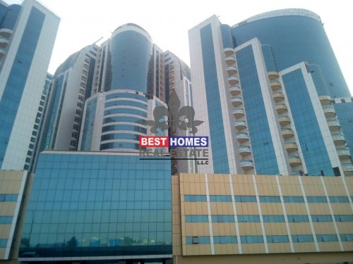 Brand New Spacious Studio available for Rent  with Parking in Orient towers in Ajman
