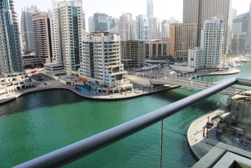 Unfurnished 2 BR with Full Marina View.