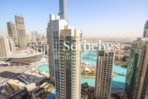 Unique High Floor 1 BR with Fountain View